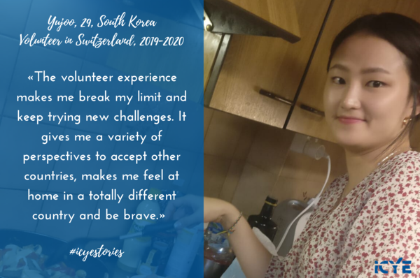 South Korean volunteer in Switzerland with ICYE